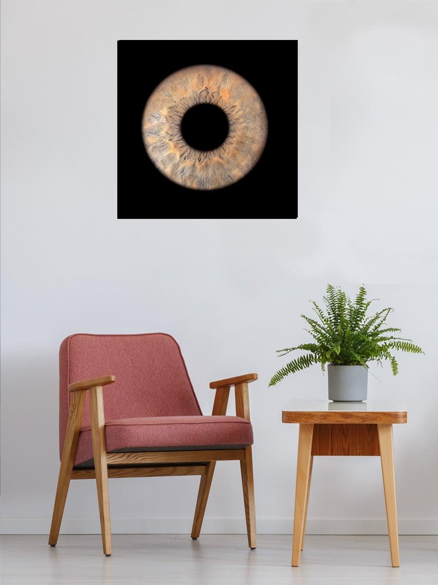 Single Iris Foto Artwork Dibond Glans