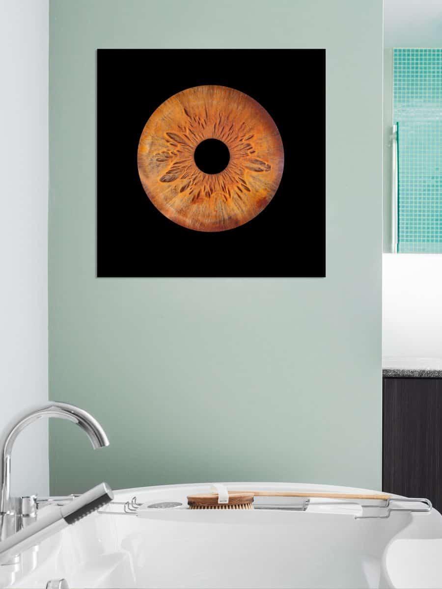 Single Iris Artwork fotografie Plexiglas Dibond